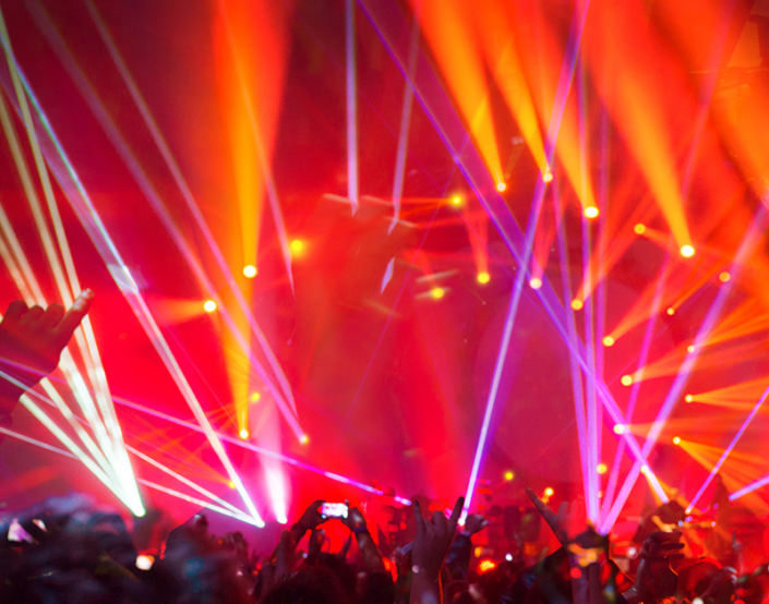 Lasers in red