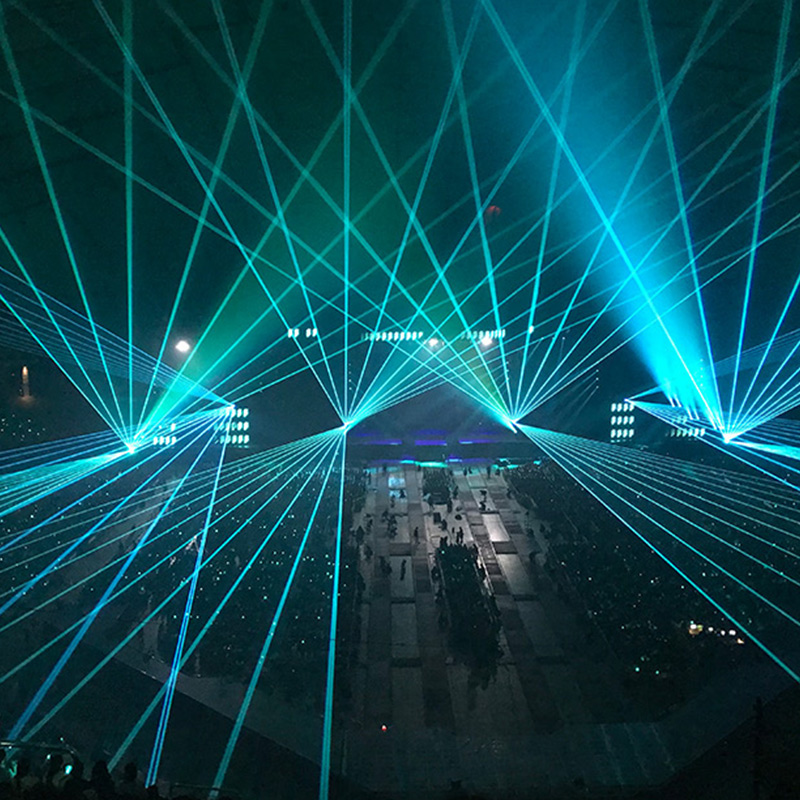Lasers in blue
